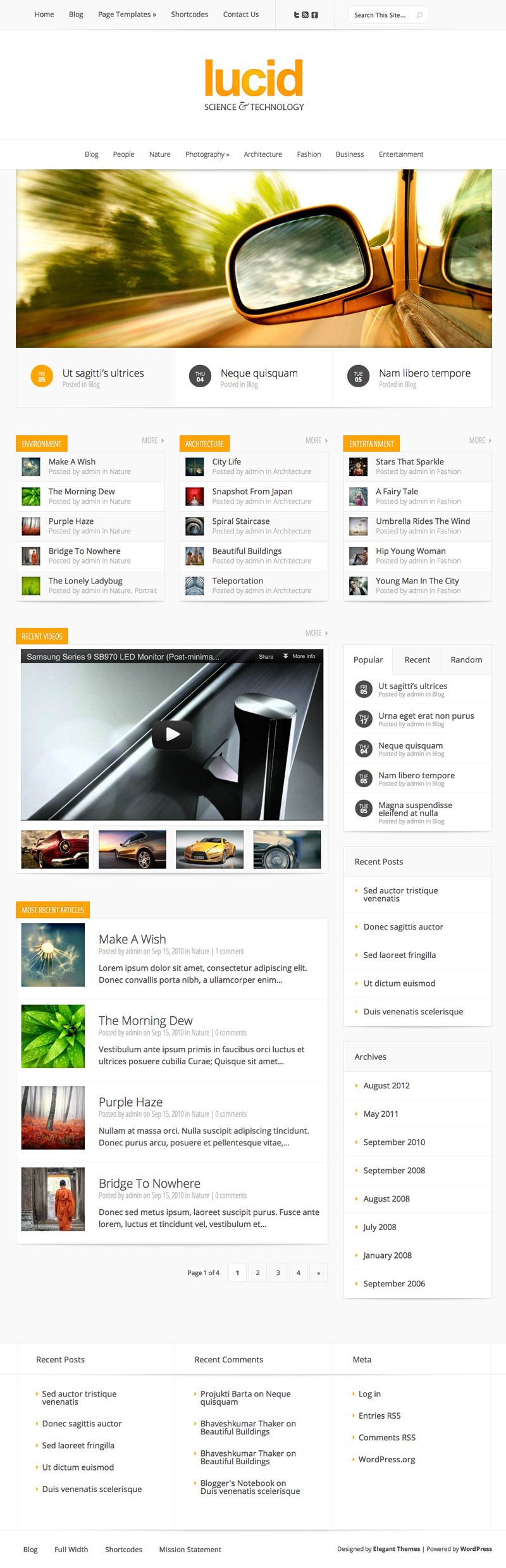 Designed by elegant themes powered by wordpress - Other Themes